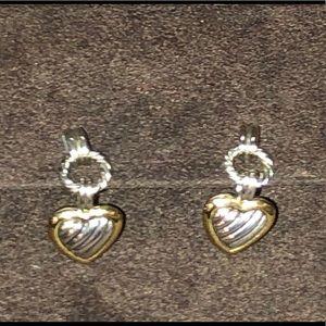 David Yurman Heart Earrings